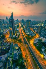 Three-way junctions in bangkok ,Thailand