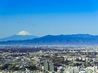 横浜方面からの富士山
