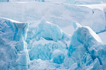 Svalbard Glacier white and blue