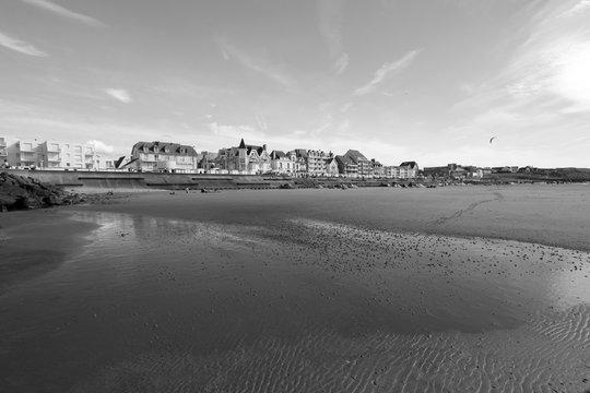THE BEACH OF WIMEREUX , , PAS-DE -CALAIS, HAUTS DE FRANCE ,FRANCE