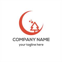Christmas Pine Tree Logo