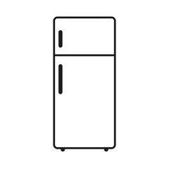 Refrigerator icon isolated on white background . Vector design.