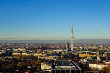 Stadtpanorama von Hamburg