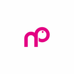 Letter NP Animal Logo