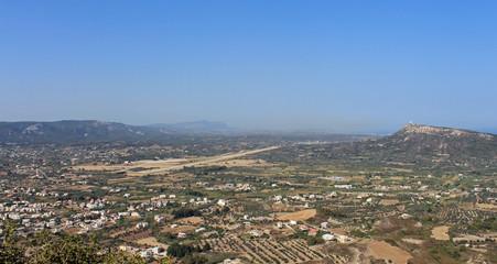 Paysage de Rhodes, ancien aéroport