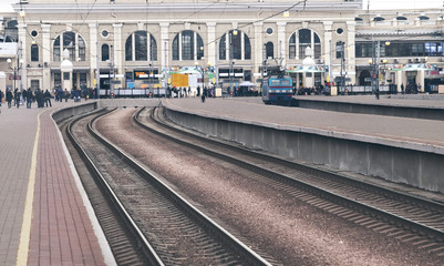 Modern railway station