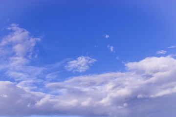 Beautiful blue sky with clods.It can be used for background