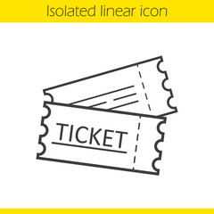 Tickets linear icon