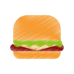 delicious burger isolated icon vector illustration design