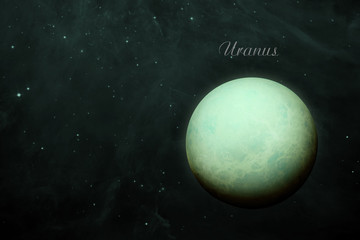 Planet Uranus. Elements of this image furnished by NASA.