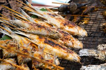 Tilapia baked salt burn in Thailand