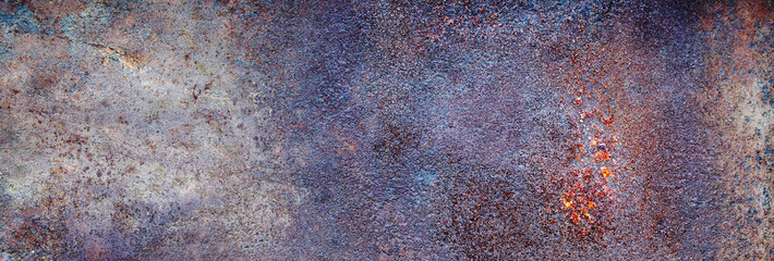 metal surface of rusty steel and the old paint