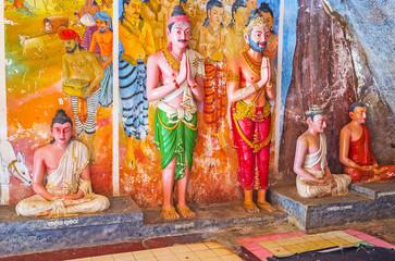The Buddhist figures
