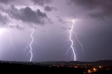 Poster Onweer lightning, storm