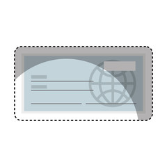 check bank isolated icon vector illustration design
