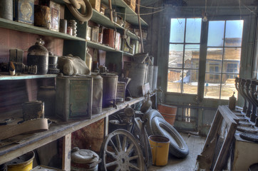 Old Gas Station Interior, Ghost Town of bodie