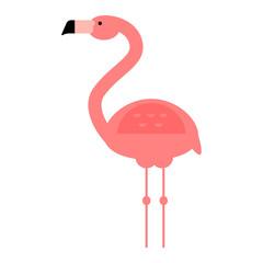 Cool pink flamingo vector illustration.