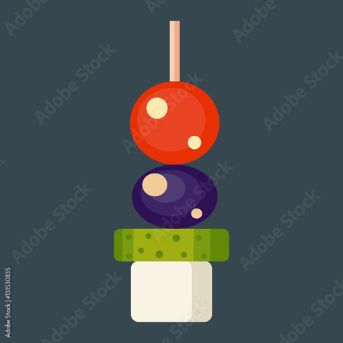 Canape snacks vector illustration stock image and for Canape vector download