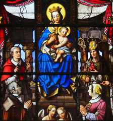 Wall Mural - Stained Glass - Madonna and Child