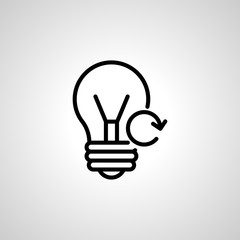 light-bulb icon. Ecology isolated sign