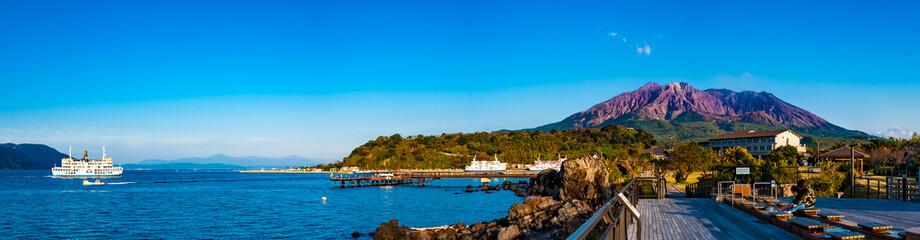 「桜島」溶岩なぎさ公園 Fototapete