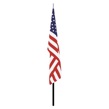 American flag on stand