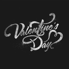 Valentine's Day Typographical Background.