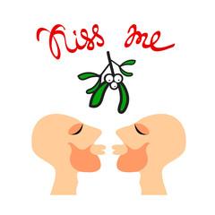 mistletoe gay kiss