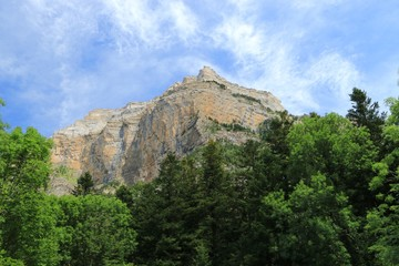 Mountains in the Pyrenees, Ordesa Valley National Park , Spain.