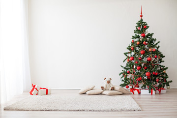 new year Christmas tree presents