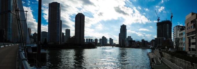 東京風景(佃島・勝どき方面)