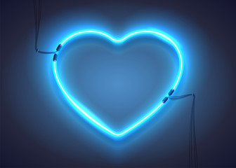 Blue Neon Heart Photos Royalty Free Images Graphics Vectors Videos Adobe Stock