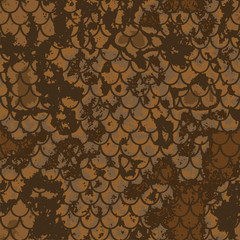 seamless pattern of snake scales background