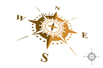 Compass Logo isolated on white background