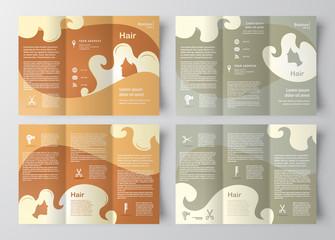 brochure design template hair salon element locks beauty hairdre