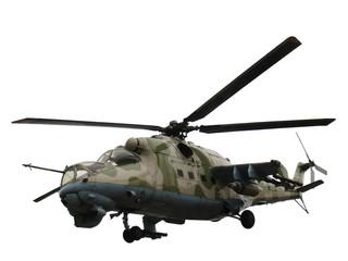 Helicopter Mi-24V Mi-35 isolated