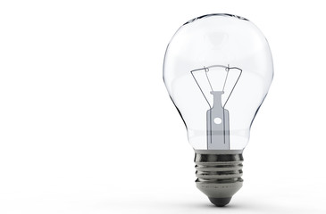High-quality lightbulb with shadow 3d render