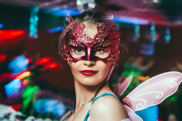 Attractive Woman With Carnival Mask