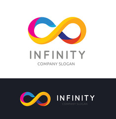 Infinity logo template.