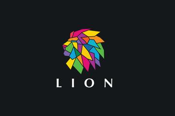 Lion Logo, Vector logo template.