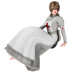 Victorian Nurse Isolated