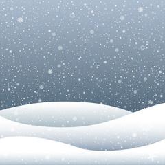 cartoon snow hill