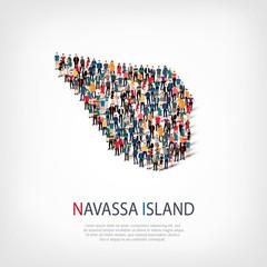 people map country Navassa Island vector