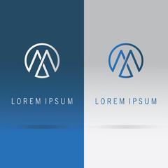 letter M round logo