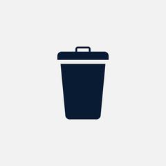 Trashcan icon simple illustration