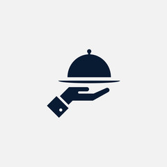 Meal tray icon simple illustration