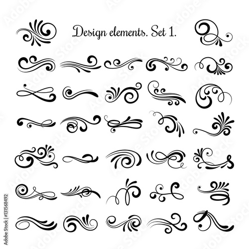 Swirly line curl patterns isolated on white background vector swirly line curl patterns isolated on white background vector flourish vintage embellishments for greeting cards stopboris Image collections