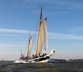 Sailing at Lake IJsselmeer - Klipper Broudertrow