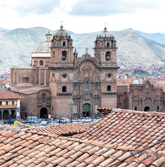 Cusco cathedral in Sacred Valley, Peru. (UNESCO World Heritage Site)