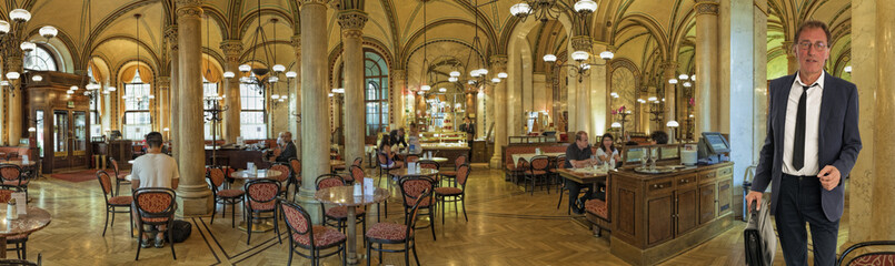 Cafe Central Wien Innen Panorama